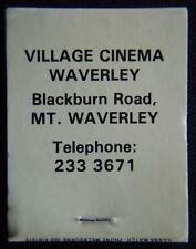 Village Cinema Mt Waverley Blackburn Rd 2333671 Matchbook (Mk1a)