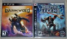 PS3 Game Lot - Dark Void (New) Brutal Legend (New)