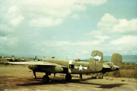 USAAF B-25 345th BG 500th BS Nadzab New Guinea 1943 1 COLOR SLIDE No Photo