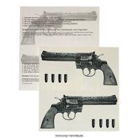 2 Pistolen Tattoos 57 x 125 mm - Fasching Karneval - Guns - Gangster Tattoo