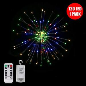120 LED MULTI COLOUR FIREWORK FAIRY LIGHTS STRING REMOTE CONTROL CHRISTMAS PARTY