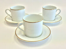 Tiffany & Company Tea Cup & Saucer Gold Band Trim