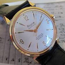 NEW OLD STOCK SWISS MADE Vintage ROYCE AUTOMATIC Mens wristwatch 1960s-MINT