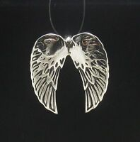 Sterling Silver Pendant Solid 925 ANGEL WINGS PE000625 EMPRESS