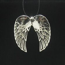 Sterling Silver Pendant Solid 925 ANGEL WINGS PE000625 EMPRESS