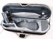 Gray Interior 1/2 Enhanced/Moon Shape Designed Violin Case+Free strings set