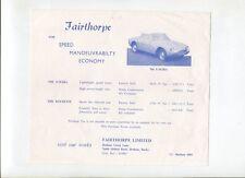 N°10004 /  prospectus FAIRTHORPE EM.III A Rockette