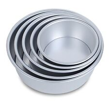 HST Mall 5 Tier Non-stick Deep Round Cake Tin Set With Loose Base for