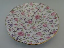 PINK CABBAGE ROSES ROSINA SAUCER ONLY, Chintz, FLORAL, Gold