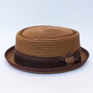 Rico Men's Women's Unisex Braided Summer Straw Retro Porkpie Rude boy Hat