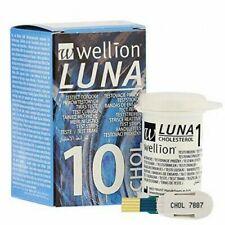 WELLION LUNA  - 10 STRISCE REATTIVE per la misurazione del COLESTEROLO