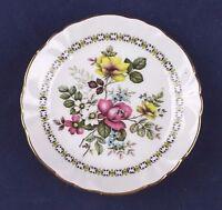 "Royal Windsor Fine Bone China England Small Porcelain Plate Rose Floral 3.5"""