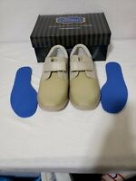 Dr Comfort Annie Tan Leather Lycra Diabetic Ortho Therapeutic Shoes, US 8.5 EE