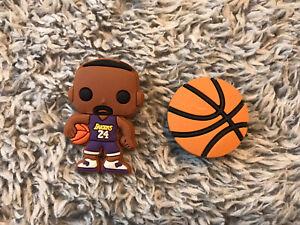 Croc Charms   JIBBITZ - Kobe Bryant #24,  Los Angeles Lakers : 2PIECE BUNDLE