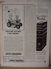 1964 Allis-Chalmers Ride On Lawn Mower Tractor Vintage Print Ad 10414