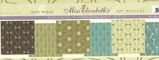 Miss Elizabeth's 12 x 12 Scrapbooking 6 Page Paper Set - ART NOUVEAU