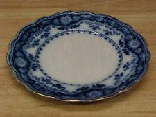 "Antique CRUMLIN Flow Blue 9"" Plate MYOTTS England China Gold Trim Rare"