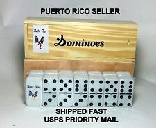 Puerto Rico Flag Domino Hobby Rooster Souvenir Table Game Sport Isla Caribbean x