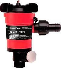 SPX Johnson Twin Port Live Well Pump 32-48703R 750GPH Wash Down bypass port 12V