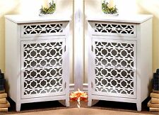 "Set of Two ** 29.1"" WHITE MEADOW LANE CABINET, SIDE, END OR NIGHT TABLE ** NIB"