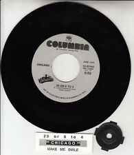 "CHICAGO 25 Or 6 To 4 & Make Me Smile 7"" 45 rpm record NEW + juke box title strip"