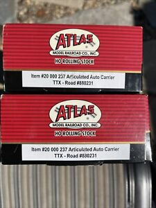 Atlas 20 000242 HO TTX Articulated Auto Carrier #880231 New In Box. Lot Of 2