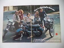 advertising Pubblicità 1975 MOTO SUZUKI RV90 RV 90/TS 400