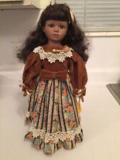Lanae A 16 Inch Dark Skinned Porcelain Doll