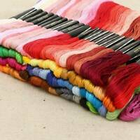 Lots 50pcs Multi Colors Cross Stitch Cotton Embroidery Thread Floss Sewing Skein