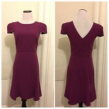 Anthropologie 4.Collective Dress Sheath Flounce Hem Purple Size 4