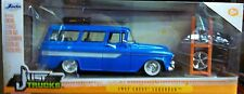 1957 Chevy Suburban Die-cast Car 1:24 Just Trucks Jada Toys 8in Blue Custom Kit