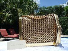 Stella McCartney Braided V Gold Metallic Pembridge Cross body Bag $1335--NWT!!