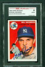 Moose Skowron d'2012 Signed 1954 Topps Archives Card #239 Autograph SGC Slabbed