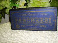 PARCHEESI GAME SELCHOW & RIGHTER CO 1938 COMPLETE W/ INSTRUCTIONS ANTIQUE