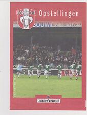 Opstellingen / Line-up FC Dordrecht v MVV Maastricht 05-11-2007