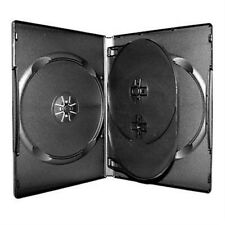 5 14MM New Black Multi 4 Disc (hold 4 Discs) CD DVD Case Box Storage with Tray