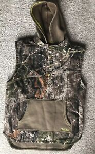 Boys Cabela's Camo Vest With Hoodie Large