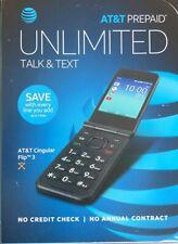 At&T Prepaid Cingular Flip 3 Camera Flip Phone - Black