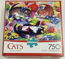 BUFFALO GAMES 750 PC PUZZLE - KNITTING KITTENS - COMPLETE W/POSTER