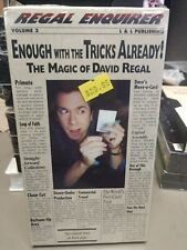 Vhs David Regal Regal Enquirer Enough with the Tricks Already Video Tape