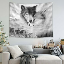 Nature Tapestry Snow Mountain Wolf Wall Hanging Tapestry Room Bedspread Decor