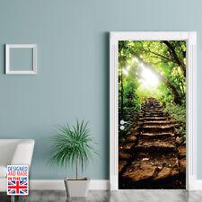 Forest steps - DIY Interior Home Decor - Door Mural 90cm Width UK Size Kitchen