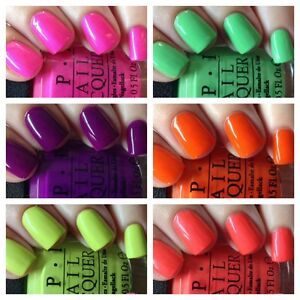 OPI Little Bits of Neon Mini Nail Varnish ***CHOOSE SET, 3.75ml or 15ml size ***