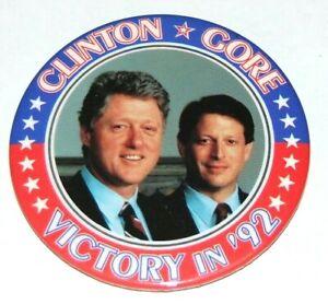 1992 BILL CLINTON AL GORE campaign pin pinback button political presidential