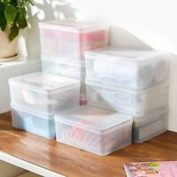 Plastic Clear Shoes Clothes Tabletop Food Storage Box Container Case Organizer