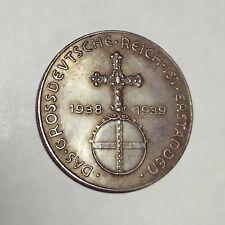 Piece Hitler 1938 5RM Reichsmark Coin Dass Grossdeutscher Reich ww2 German
