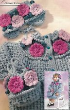 *Toddler's First Fashions Coat, Hat & Purse crochet PATTERN INSTRUCTIONS