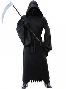 ★ Sensemann Gevatter Tod Grim Geist Dementor Grim Reaper Kostüm Ghost Soul 48-62