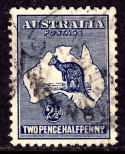 AUSTRALIA #39 2½p DARK BLUE, 1915 Wmk.9, VF, CDS