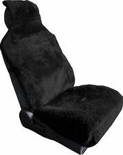 LUXURIOUS Sheepskin Black Wrap Seat Cover Airbag ready one piece